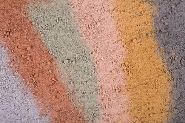 Différents types d'argile